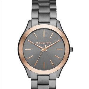 Michael Kors Unisex Slim 44mm Gunmetal watch